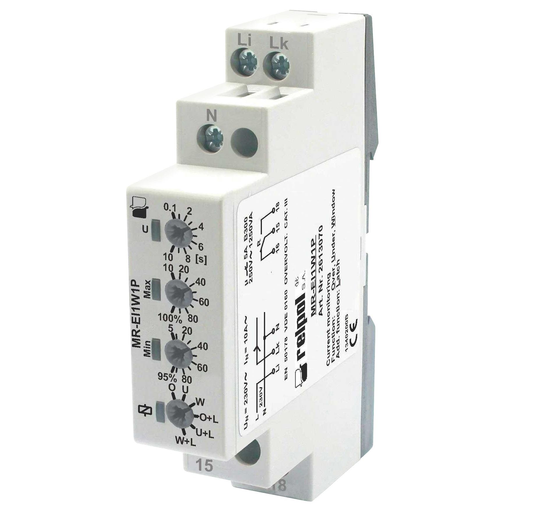 реле контроля тока MR-EI1W1P